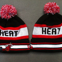Authentic New Era Miami Heat Wool Beanie - TISA SNAPBACK OBEY HUF CROOKS