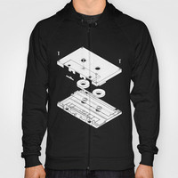 Exploded Cassette Tape  Hoody by Revital Naumovsky | Society6