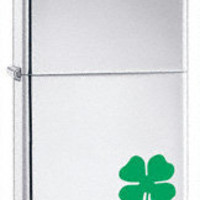 "Zippo ""A Bit'O Luck"" Shamrock Lighter with Free Engraving"