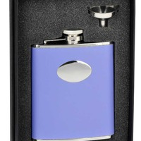 "Visol ""Blossom"" Lavender Leather 6oz Flask Gift Set"