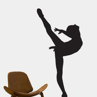 Vinyl Wall Art Decal Sticker Ballet Dancer 24x51 Ballerina Girl #208