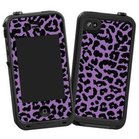 "Purple Leopard ""Protective Decal Skin"" for LifeProof 4/4S Case"
