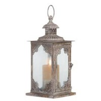 One Kings Lane - The Well-Dressed Wall - Damask Glass Lantern Candleholder