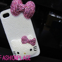 3D bows cat iphone 5 case iphone 4 case iphone 4s case by hicase