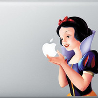 Snow White macbook decal macbook sticker Apple mac by TWINSICLES
