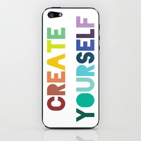 Create Yourself iPhone & iPod Skin by LitPrints | Society6