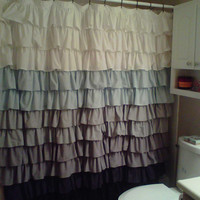 Fabric Ruffled Shower Curtain