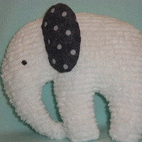 Adorable Chenille Stuffed Elephants by woobiesandwonders on Etsy