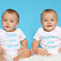 Older and Wiser  Younger and Cuter Set of TWIN by ShopTheIttyBitty