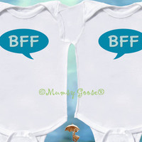 Funny Twin Baby Boys Onesuit by Mumsy Goose  Newborn by MumsyGoose