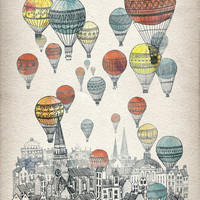 Voyages over Edinburgh Art Print by David Fleck | Society6