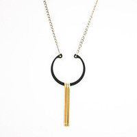 Crow Jane Jewelry: Large Ring Necklace Black, at 20% off!