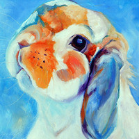Original Lop Rabbit Portrait 8x8 by me Sandra by mybunnies3