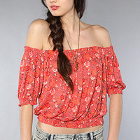 The Printed Gypsy Crop Top in Hibiscus Combo : Free People : Karmaloop.com - Global Concrete Culture