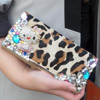 Unique big Leopard Purse with Hello Kitty Sparkly crystals.1 from AutumnBaby