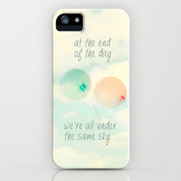 at the end of the day we&#x27;re all under the same sky iPhone Case by Sylvia Cook Photography | Society6