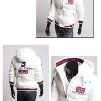 British People Zip Puffer Jacket with Hood