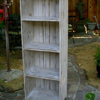 Wooden Shelf Cabinet Rustic Shabby Chic Storage by honeystreasures