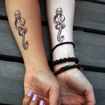 Temporary Dark Mark Tattoos Harry Potter by brucelovesyou on Etsy