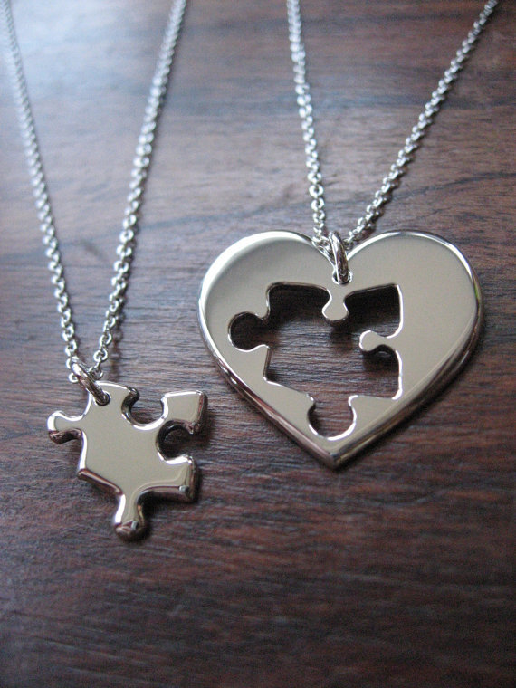 best friend puzzle and necklace from jess finn jewelry