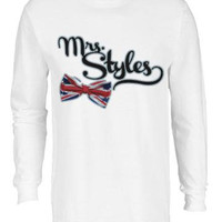 Mrs. Harry Styles One Direction Music Band T-shirt Tee Long Sleeve Teen Gift Christmas 1D Cute