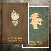Harry Potter Movie Poster Collection Seven by ModernStylographer
