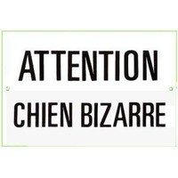 Ande Rooney Chien Bizarre Metal Sign: Home & Kitchen