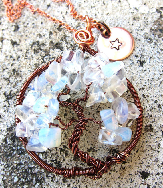 Copper Tree of Life Necklace with by DesignByAnyOtherName on Etsy