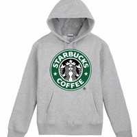 Stylish Grey Starbucks Hoodie