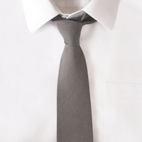 Wool Grey Solid Tie by Maxton Men | Maxton Men