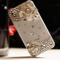 Camellia Phone Cover Transparent Phone Skin For IPhone 4/4s