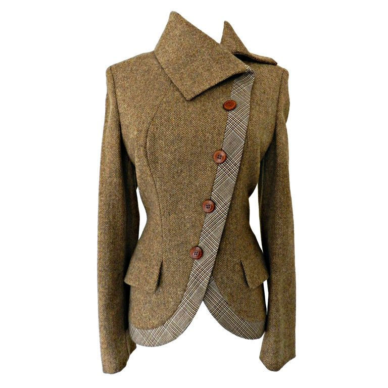 [sold] Alexander McQueen - Alexander McQueen Brown Wool Riding Jacket