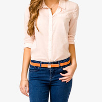 Semi Sheer Shirt | FOREVER21 - 2021839495