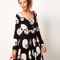 Lazy Oaf Skull Skater Dress at asos.com