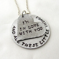 Hand Stamped One Direction Necklace I'm In Love by StampedOutLove