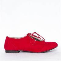 Sammy Oxford Shoes - Red from JP Originals at Lucky 21 Lucky 21