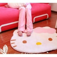 Amazon.com: Hello Kitty diecut face shape Area Rug 30 X 25 inches: Baby