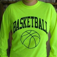 Amazon.com: Neon Long Sleeve Basketball T-shirt: Sports & Outdoors