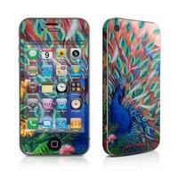 Amazon.com: Coral Peacock Design Protective Skin Decal Sticker for Apple iPhone 4 / 4S 16GB 32GB 64GB: Cell Phones & Accessories