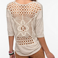 Staring At Stars Crochet Back Sweater