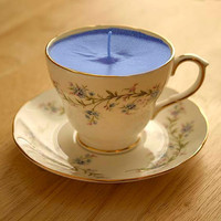 Teacup Candle  Vintage Duchess Tranquility Bone China by pinkfence