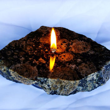 Granite Candle by donkensinger on Etsy