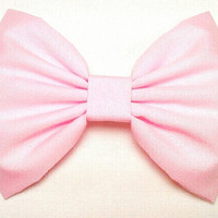 baby pink fabric hair bow, girls bow