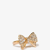 Rhinestoned Bow Ring | FOREVER 21 - 1017306752