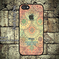 iPhone 5 case, iPhone 4s / 4 case hard plastic or silicon rubber indian pattern