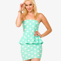 Polka Dot Peplum Dress