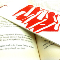 Oversized Bookmark with Red Library Books by SweetGeePrints