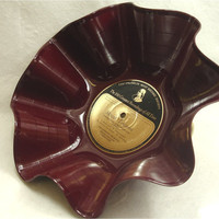 MOZART Classical  Recycled Record Chip Bowl  by itsourearth