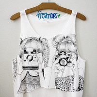 Camera Girls Crop Top | fresh-tops.com