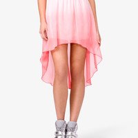 Ombr High-Low Skirt